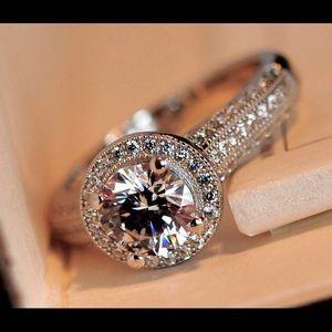 ❤️NWT 925S STERLING SILVER OPAL DIAMOND CZ RING